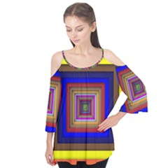 Square Abstract Geometric Art Flutter Tees