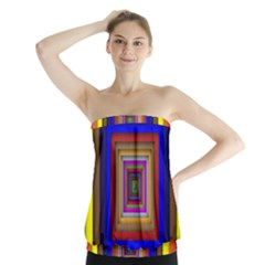 Square Abstract Geometric Art Strapless Top