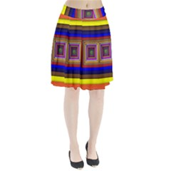 Square Abstract Geometric Art Pleated Skirt