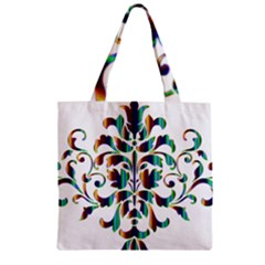 Damask Decorative Ornamental Zipper Grocery Tote Bag