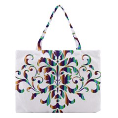 Damask Decorative Ornamental Medium Tote Bag