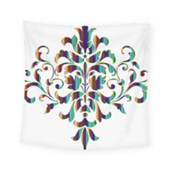 Damask Decorative Ornamental Square Tapestry (small)