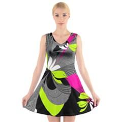 Nameless Fantasy V-Neck Sleeveless Skater Dress