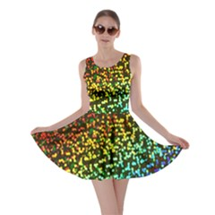 Construction Paper Iridescent Skater Dress