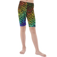 Construction Paper Iridescent Kids  Mid Length Swim Shorts