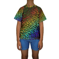 Construction Paper Iridescent Kids  Short Sleeve Swimwear