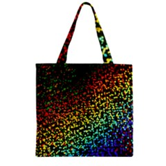 Construction Paper Iridescent Zipper Grocery Tote Bag