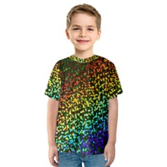 Construction Paper Iridescent Kids  Sport Mesh Tee