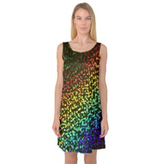 Construction Paper Iridescent Sleeveless Satin Nightdress