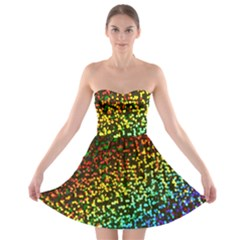 Construction Paper Iridescent Strapless Bra Top Dress