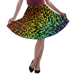 Construction Paper Iridescent A Line Skater Skirt