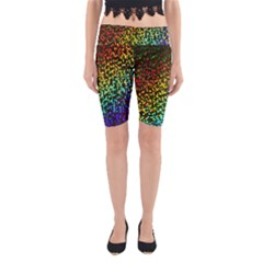 Construction Paper Iridescent Yoga Cropped Leggings