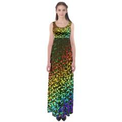 Construction Paper Iridescent Empire Waist Maxi Dress