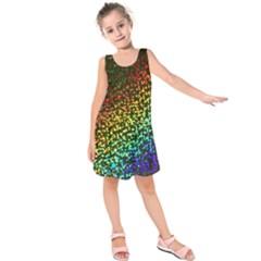 Construction Paper Iridescent Kids  Sleeveless Dress