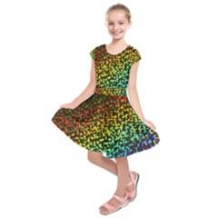 Construction Paper Iridescent Kids  Short Sleeve Dress