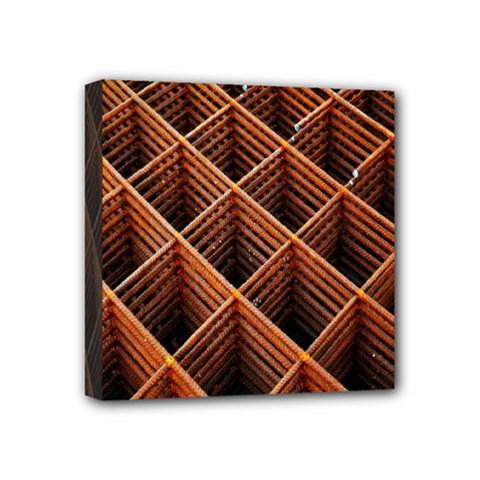 Metal Grid Framework Creates An Abstract Mini Canvas 4  X 4