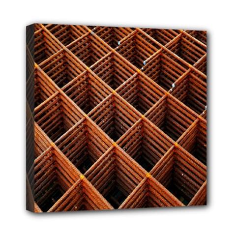 Metal Grid Framework Creates An Abstract Mini Canvas 8  X 8
