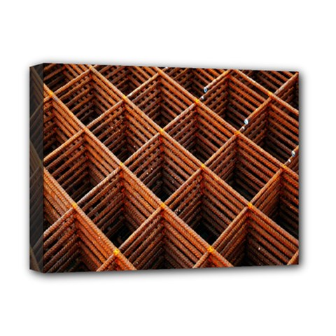 Metal Grid Framework Creates An Abstract Deluxe Canvas 16  x 12