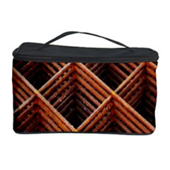 Metal Grid Framework Creates An Abstract Cosmetic Storage Case