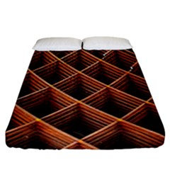 Metal Grid Framework Creates An Abstract Fitted Sheet (california King Size)