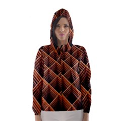 Metal Grid Framework Creates An Abstract Hooded Wind Breaker (women)