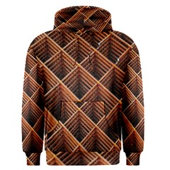 Metal Grid Framework Creates An Abstract Men s Pullover Hoodie