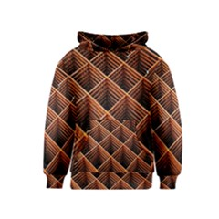 Metal Grid Framework Creates An Abstract Kids  Pullover Hoodie