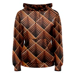 Metal Grid Framework Creates An Abstract Women s Pullover Hoodie