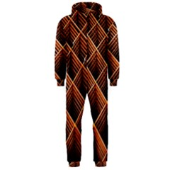 Metal Grid Framework Creates An Abstract Hooded Jumpsuit (Men)