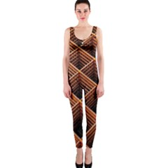 Metal Grid Framework Creates An Abstract Onepiece Catsuit