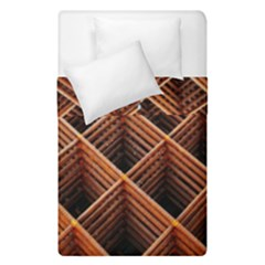 Metal Grid Framework Creates An Abstract Duvet Cover Double Side (single Size)