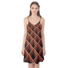Metal Grid Framework Creates An Abstract Camis Nightgown