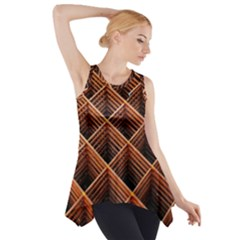 Metal Grid Framework Creates An Abstract Side Drop Tank Tunic