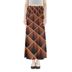 Metal Grid Framework Creates An Abstract Maxi Skirts