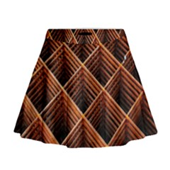 Metal Grid Framework Creates An Abstract Mini Flare Skirt