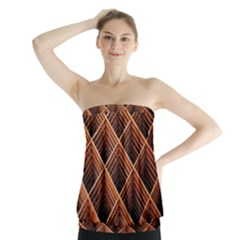 Metal Grid Framework Creates An Abstract Strapless Top
