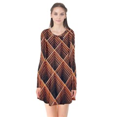 Metal Grid Framework Creates An Abstract Flare Dress