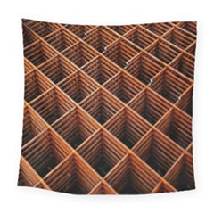 Metal Grid Framework Creates An Abstract Square Tapestry (large)