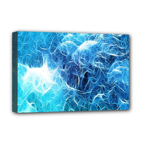 Fractal Occean Waves Artistic Background Deluxe Canvas 18  X 12