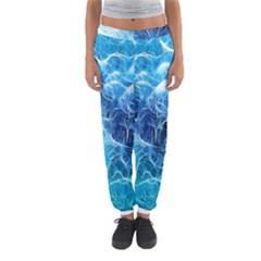 Fractal Occean Waves Artistic Background Women s Jogger Sweatpants