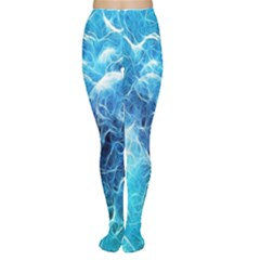 Fractal Occean Waves Artistic Background Women s Tights