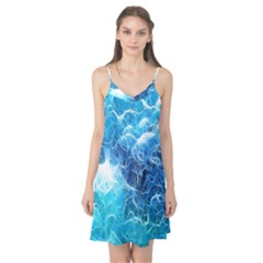 Fractal Occean Waves Artistic Background Camis Nightgown