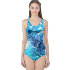 Fractal Occean Waves Artistic Background One Piece Swimsuit