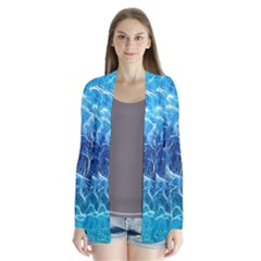 Fractal Occean Waves Artistic Background Cardigans