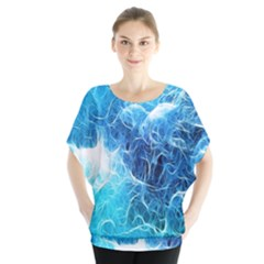 Fractal Occean Waves Artistic Background Blouse