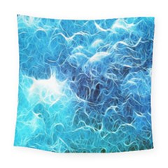 Fractal Occean Waves Artistic Background Square Tapestry (large)