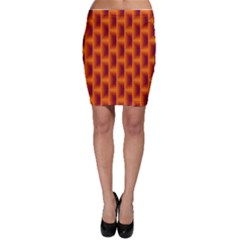 Fractal Multicolored Background Bodycon Skirt