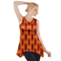 Fractal Multicolored Background Side Drop Tank Tunic