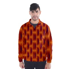 Fractal Multicolored Background Wind Breaker (men)