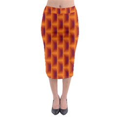 Fractal Multicolored Background Midi Pencil Skirt